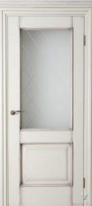 Durys Klasika su stiklais